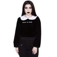 <img class='new_mark_img1' src='https://img.shop-pro.jp/img/new/icons20.gif' style='border:none;display:inline;margin:0px;padding:0px;width:auto;' />【KILL STAR】CARRIE COLLAR SWEATSHIRT