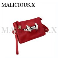 【MALICIOUS.X】CAT FANG CLUTCH & SHOULDER BAG/RED