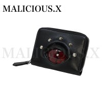 【MALICIOUS.X】REPTILES(D) EYE FOLDING ZIP CARD&COIN CASE/RED