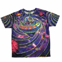 【SPACE TRIBE】TS04 DP037A:SUBLIME S/S T-OUT OF THIS WORLD(UNISEX)