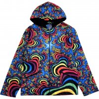 【SPACE TRIBE】JK159 DP019:SUBLIME HOODED JACKET-RAINBOW VALLEY FRACTAL(UNISEX)
