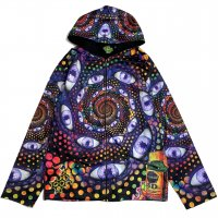 【SPACE TRIBE】JK159 DP026:SUBLIME HOODED JACKET-LSD PARTY(UNISEX)