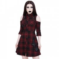 <img class='new_mark_img1' src='https://img.shop-pro.jp/img/new/icons3.gif' style='border:none;display:inline;margin:0px;padding:0px;width:auto;' />【KILL STAR】PARANORMAL SHIRT-DRESS [TARTAN]