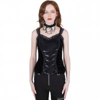 <img class='new_mark_img1' src='https://img.shop-pro.jp/img/new/icons20.gif' style='border:none;display:inline;margin:0px;padding:0px;width:auto;' />【KILL STAR】CARRIE CAUSTIC LACE PANEL VEST