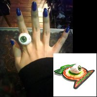 【KREEPSVILLE666】EYEBALL RING GREEN