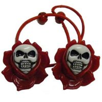 <img class='new_mark_img1' src='//img.shop-pro.jp/img/new/icons20.gif' style='border:none;display:inline;margin:0px;padding:0px;width:auto;' />【KREEPSVILLE666】SKULL ROSE HAIR BAND-RE