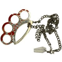 TIMESALE!!【KREEPSVILLE666】BLOOD SPLATTERED KNUCKLE DUSTER NECKLACE