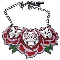 <img class='new_mark_img1' src='https://img.shop-pro.jp/img/new/icons20.gif' style='border:none;display:inline;margin:0px;padding:0px;width:auto;' />【KREEPSVILLE666】TRIPLE ROSE NECKLACE