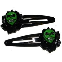 5B1/2【KREEPSVILLE666】SKULL ROSE HAIRSLIDE BLACK