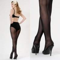 【WHAT KATIE DID/即納】SEAMED TULLE TIGHTS