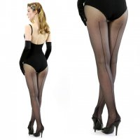 【WHAT KATIE DID/即納】RETRO SEAMED TIGHTS-BLACK