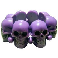 <img class='new_mark_img1' src='https://img.shop-pro.jp/img/new/icons20.gif' style='border:none;display:inline;margin:0px;padding:0px;width:auto;' />【KREEPSVILLE666】PURPLE SKULL COLLECTION BRACELET