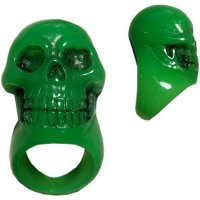 <img class='new_mark_img1' src='https://img.shop-pro.jp/img/new/icons20.gif' style='border:none;display:inline;margin:0px;padding:0px;width:auto;' />【KREEPSVILLE666】GREEN SKULL COLLECTION RING