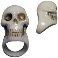 【KREEPSVILLE666】WHITE SKULL COLLECTION RING