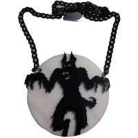 【KREEPSVILLE666】HOWLING AT THE MOON ACRYLIC NECKLACE