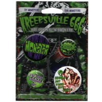 【KREEPSVILLE666】GHOUL/MONSTER BADGE SET
