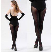 【WHAT KATIE DID/即納】OPAQUE CONTRAST RETRO SEAMED TIGHTS