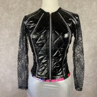 【CHARLES OF LONDON】PVC/SPIDER NET JACKET
