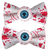 <img class='new_mark_img1' src='//img.shop-pro.jp/img/new/icons20.gif' style='border:none;display:inline;margin:0px;padding:0px;width:auto;' />【KREEPSVILLE666】EYEBALL HAIRBOW SLIDE-BLOOD SPLAT WHITE
