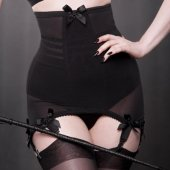 【KISS ME DEADLY】VARGAS LONGLINE GIRDLE-BLACK