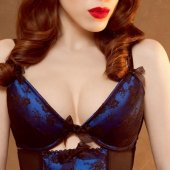 【KISS ME DEADLY】ALOUETTE BRA-BLUE