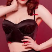 3B1F【KISS ME DEADLY】JOLIE BLACK LONGLINE BRA