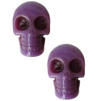 【KREEPSVILLE666】PURPLE SKULL COLLECTION EARRINGS