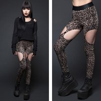 <img class='new_mark_img1' src='https://img.shop-pro.jp/img/new/icons20.gif' style='border:none;display:inline;margin:0px;padding:0px;width:auto;' />【LIP SERVICE】GARTER LEGGINGS-LEOPARD(SIZE:S)