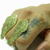 3B1F【GALIBARDY】リング-RENAISSANCE ANGEL SHAPED WING BRASS RING