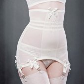 【KISS ME DEADLY】VARGAS LONGLINE GIRDLE-IVORY