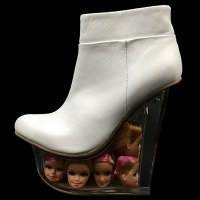★【JEFFREY CAMPBELL】ICY GIRL DOLLS-WHITEバービーヒールブーティー