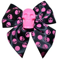 <img class='new_mark_img1' src='//img.shop-pro.jp/img/new/icons20.gif' style='border:none;display:inline;margin:0px;padding:0px;width:auto;' />【KREEPSVILLE666】SKULL COLLECTION PINK HAIR BOW