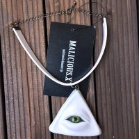 【MALICIOUS.X】CHORKER / PYRAMID EYE 02 WHITE+CHROME