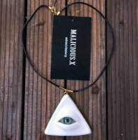 【MALICIOUS.X】NECKLACE / PYRAMID EYE 02 BLACK+GOLD