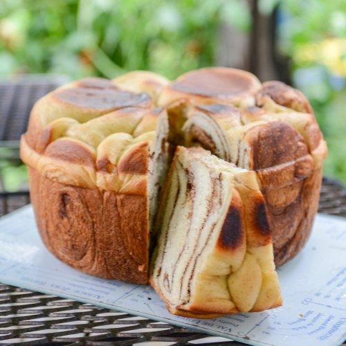 ココアロールの鍋パン