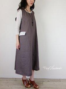 ヨーロッパモカリネンレースジャンパースカート