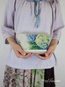 [予約販売]リネン紫陽花ポーチ