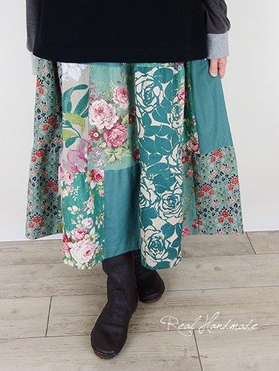 リネンパッチティアードスカート☆エメグリ