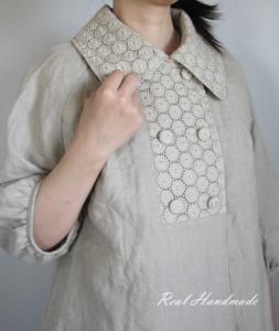 [予約販売] ヨーロッパリネンサークル刺繍Wジャケット