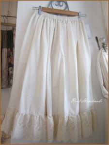 [予約販売] アンティーク風スカラップギャザースカート
