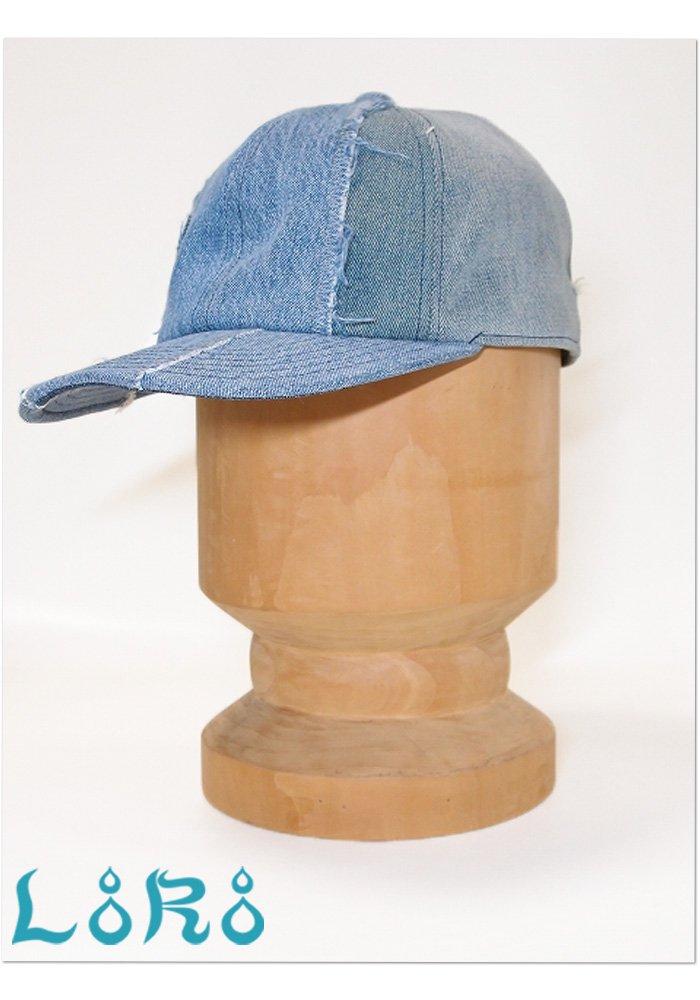 デニムフィット型キャップ・ブルー・フリーサイズ(57cm-61cm)