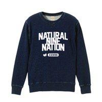 2/中 NATURAL 9 NATION「COLLEGE LOGO」完全限定生産SWEAT(予約)