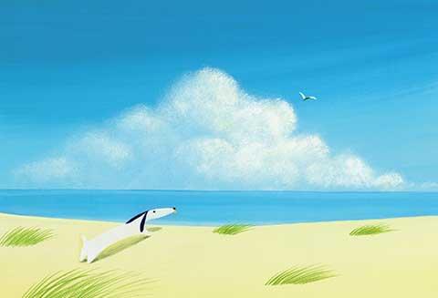 ポストカード No.118【海を眺めるジェイク】