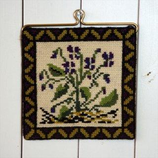 TVIST ツヴィスト刺繍 紫花
