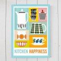 Kitchen Happiness Bersa Prunus キャサリンホルム / Art Print A3ポスター 木製フレームセット 北欧