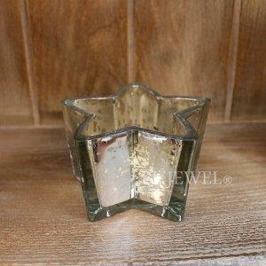 【chehoma】ベルギー製 ガラス・星型小物入れ シルバー(W10.5×H6.5cm)