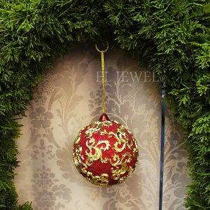 クリスマスアイテム♪ 「エレクトロボール」オーナメントA・レッド(φ10cm)