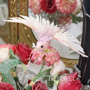 【ベルギー-GOODWILL-】キラキラ☆ハミングバードクリップ(ピンク)