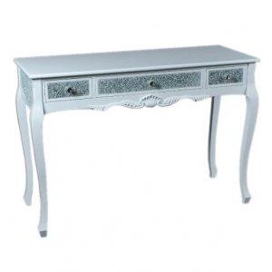 【ベルギー-GARUDA】キラキラ☆コンソールテーブル ホワイト(W120×D45×H82cm)