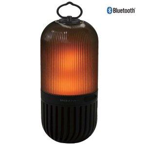 【光と音】LEDゆらぎカプセルスピーカー<ブラック>Bluetooth・ランタンスピーカー(防塵・防水)